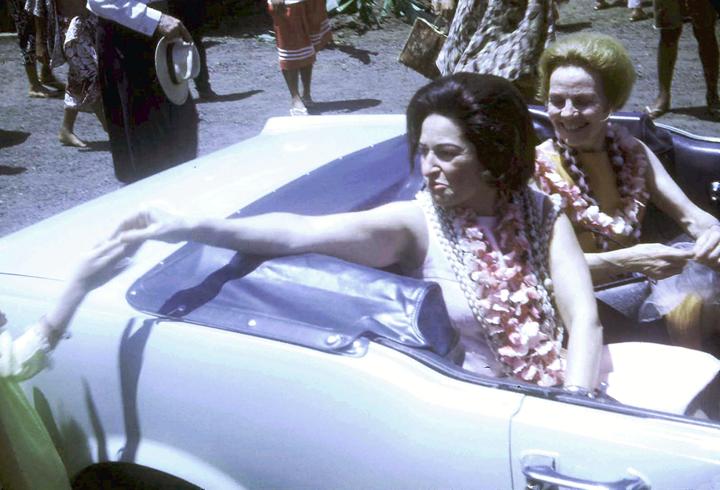 Ladybird in motorcade