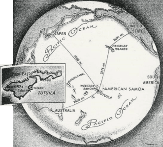 globe showing south pacific