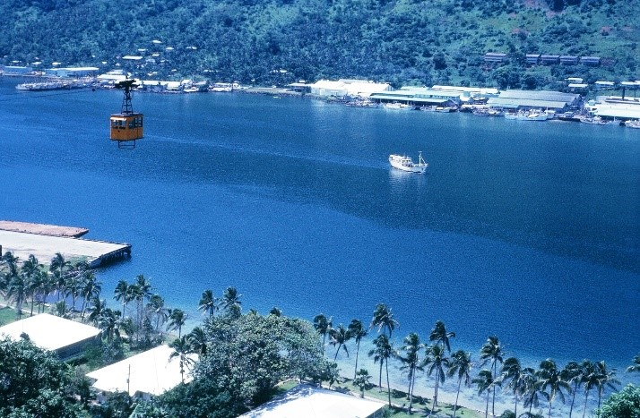 tramway over pago harbor